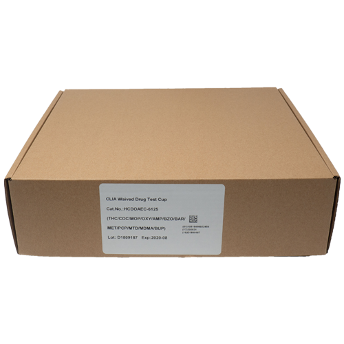 generic drug test cup box