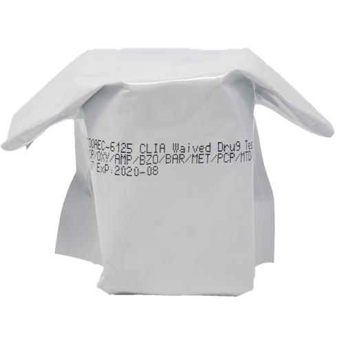 generic drug test cup in packaging